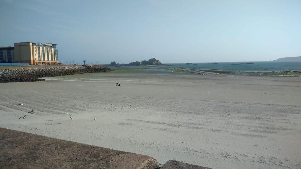 La marea a Jersey